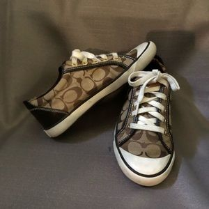 Ladies Brown/Tan Coach Barrett Sneakers Size 7